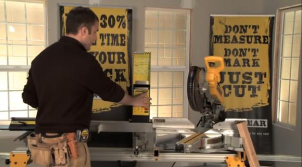 Woodworker setting SawGear