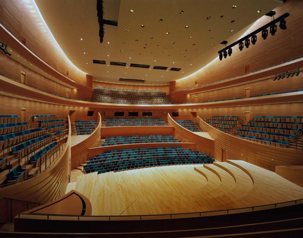 large unique lecture hall
