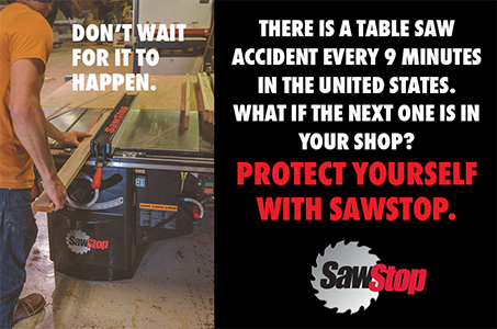 SawStop Promotion Running During September 2020