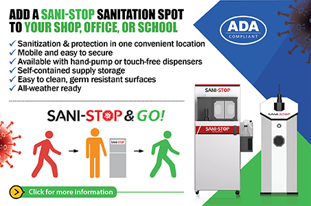 Add a Sani-Stop Sanitation Spot to Your Shop, Office, or School