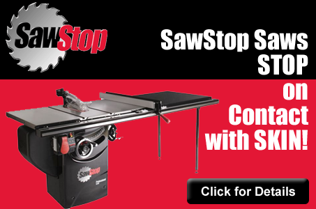 SawStop Saws Stop on Contact with Skin