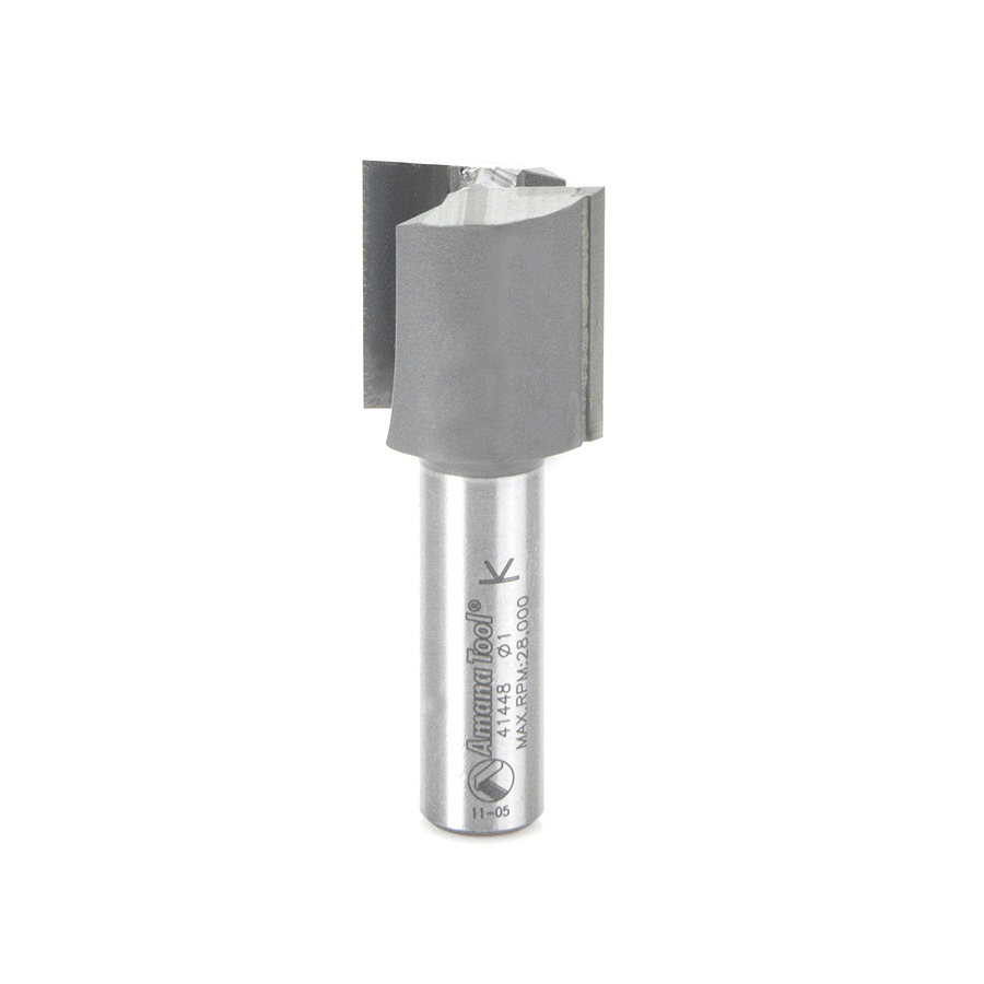 """Amana Tool 41448 Carbide Tipped Straight Plunge High Production 1"""" Dia x 1"""" x 1/2"""" Shank"""