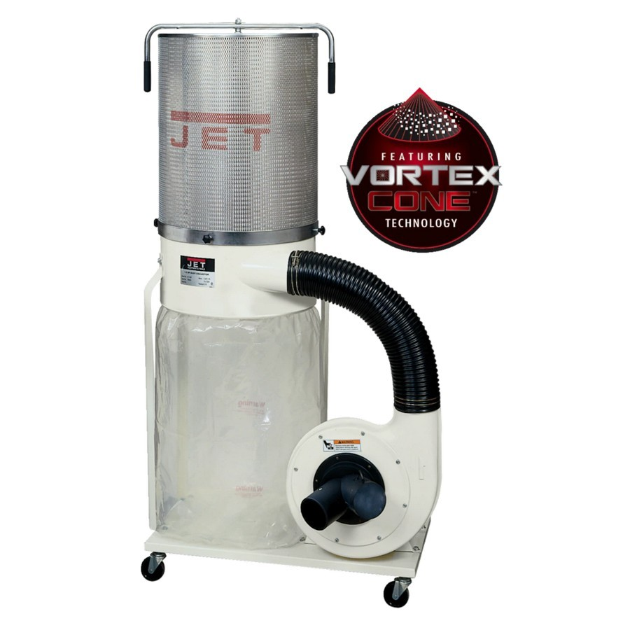 Jet Tools 710704K DC-1200VX-CK3 Dust Collector with 2-Micron Canister Kit 2HP Three  Phase 230/460V