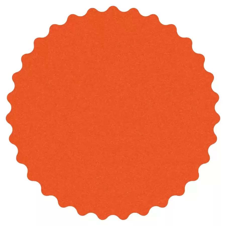 """5"""" Dynacut 150 Grit Extreme Orange Scalloped Edge Non Vacuum Hook and Loop Abrasive Disc 50/Pack Dynabrade 79883"""