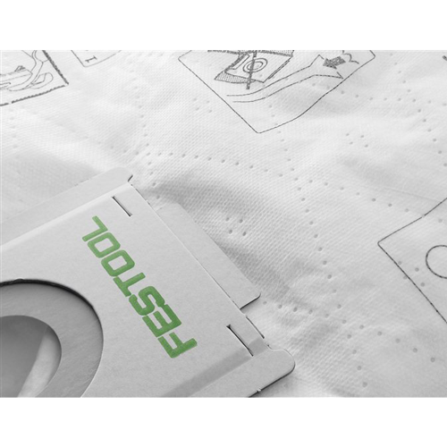 Festool SELFCLEAN Filter Bag for CT 48 Dust Extractor, PK/5