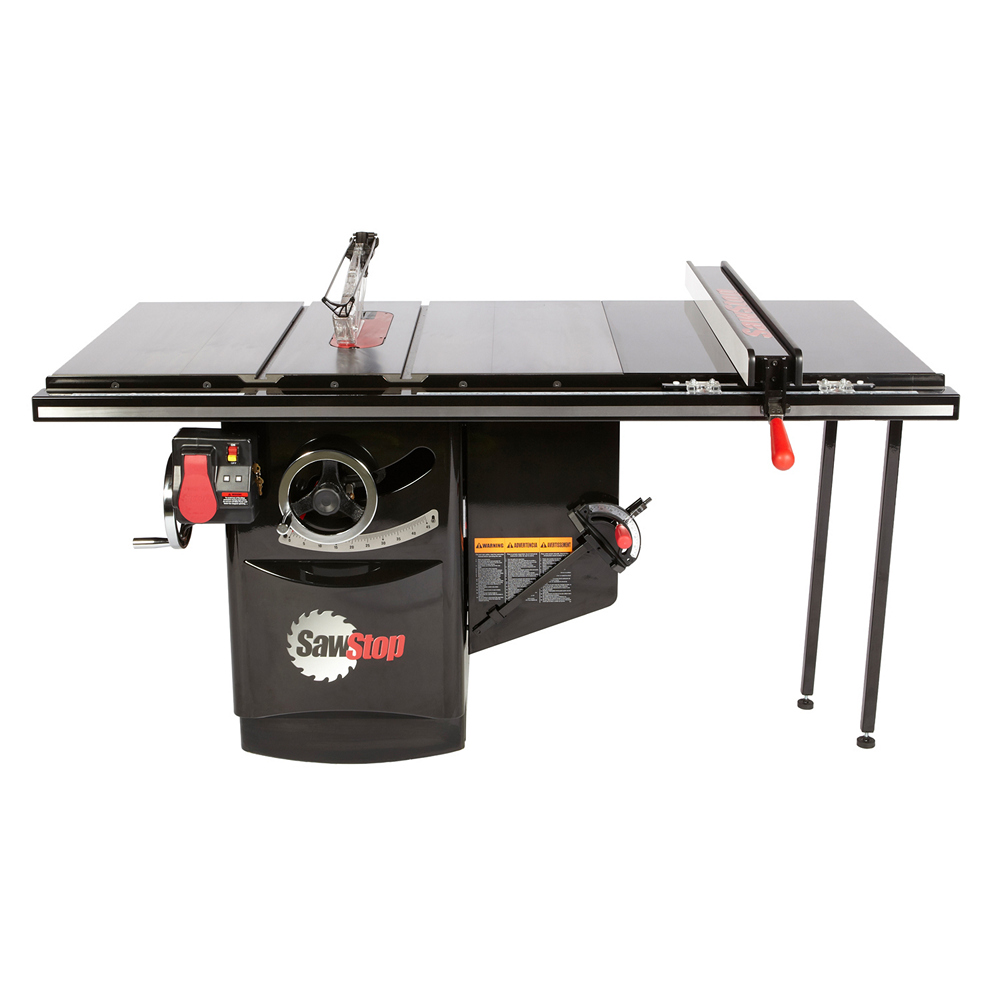 """SawStop ICS 10"""" 36"""" Table Saw with T-Glide Fence 3HP 1Ph 230V"""
