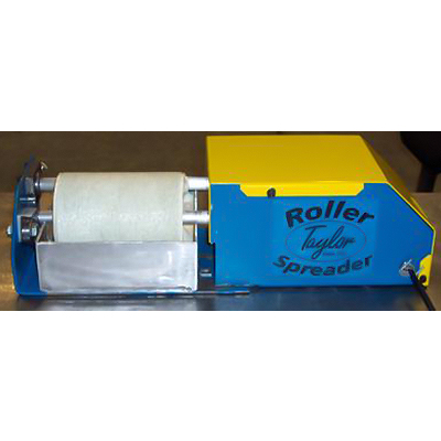 "JLT Clamp Roller Spreader - Electric Driven 6"" Wide Felt Glue Roll - Table Top Unit"