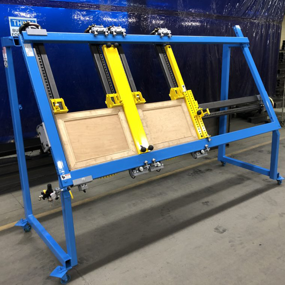 """JLT Clamp Double Door #717A Door Clamp - 38"""" X 96"""" Capacity and A Center Squaring Bar"""