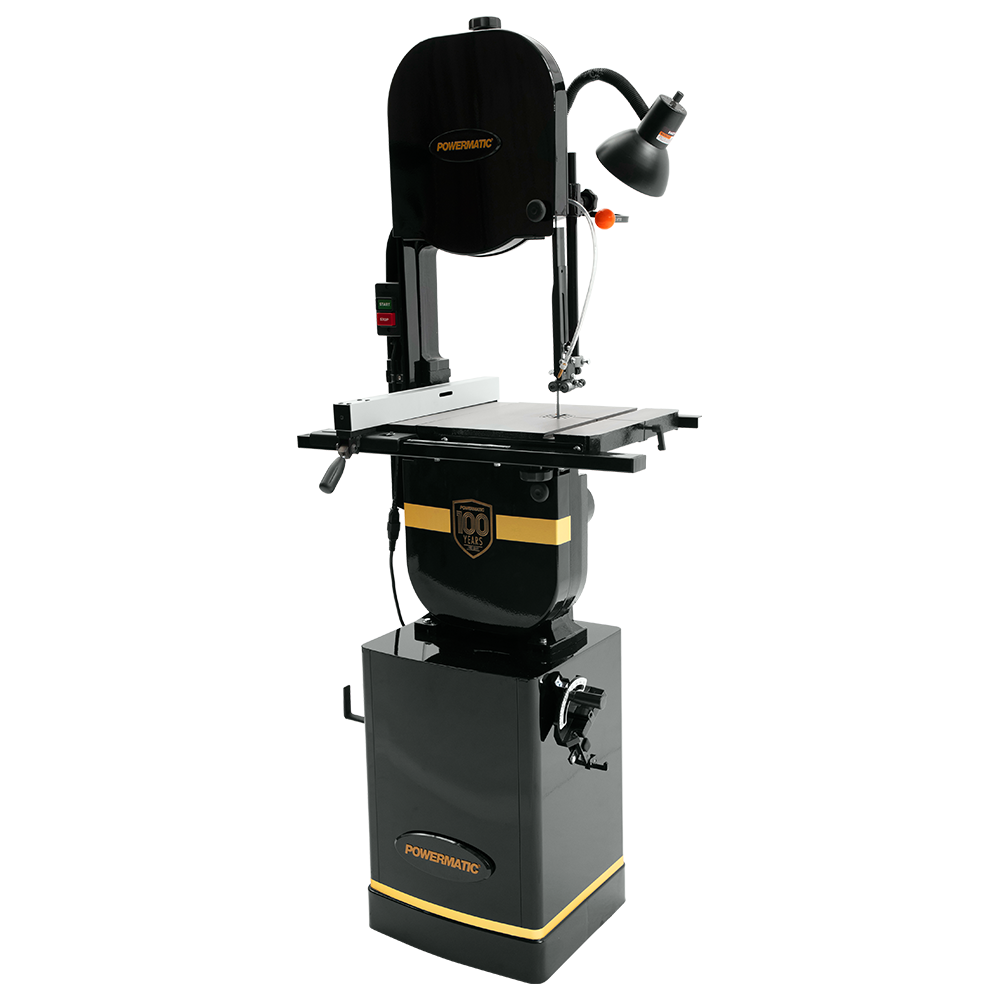 Powermatic PWBS-14CS Band Saw with Stand and Ricer Block 100 Years Edition