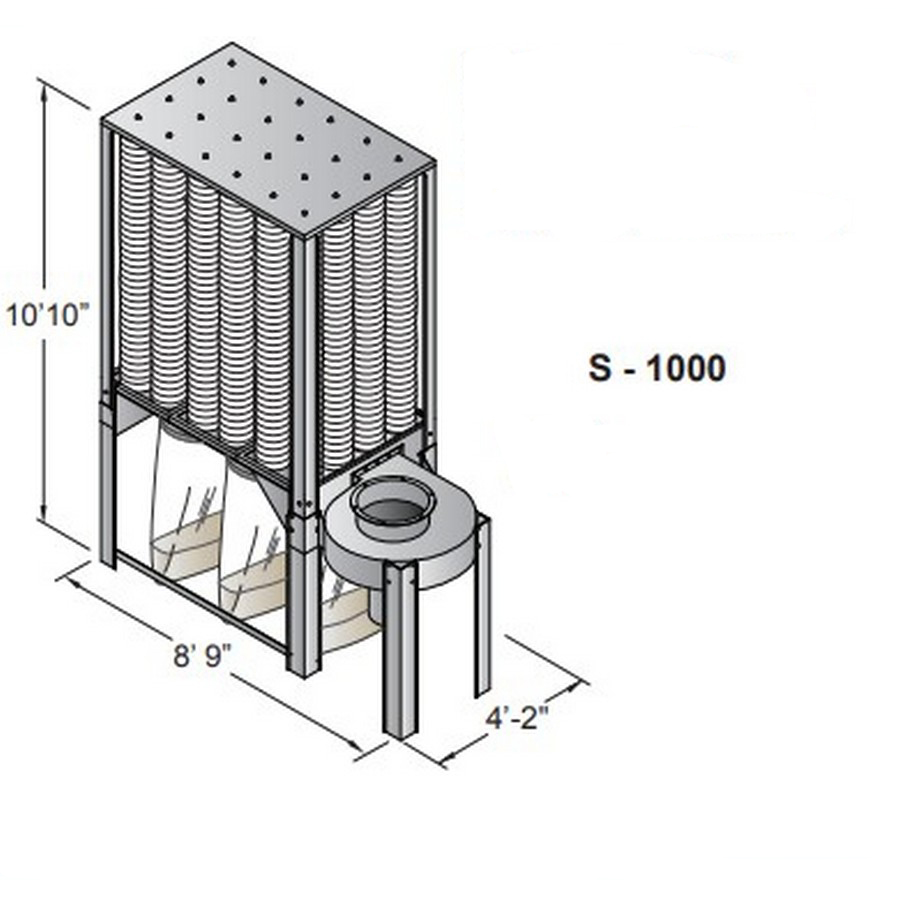 Nederman S-1000 S-Series Dust Collector Three Phase