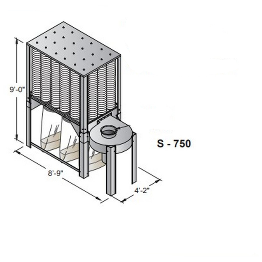 Nederman S-750 Series Dust Collector Single Phase