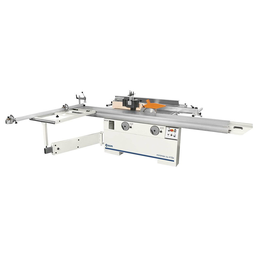 Minimax Single-Phase 4.8Hp (x3) 8.5? Combination machine 12? main blade w/16″ Tersa cutterblock w/mortiser, 1.25″ interchangeable tilting spindle, DADO, wheels for movement