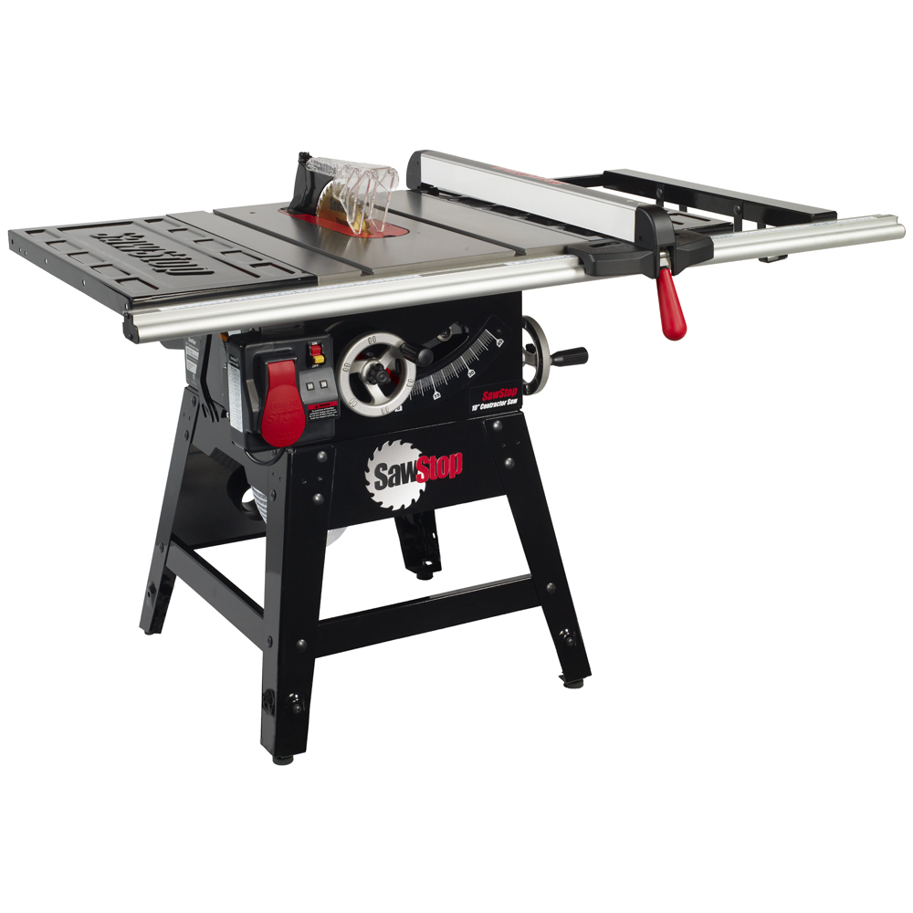 "SawStop Contractor Table Saw with 30"" Aluminum Fence System 1.75HP 1Ph 120V"