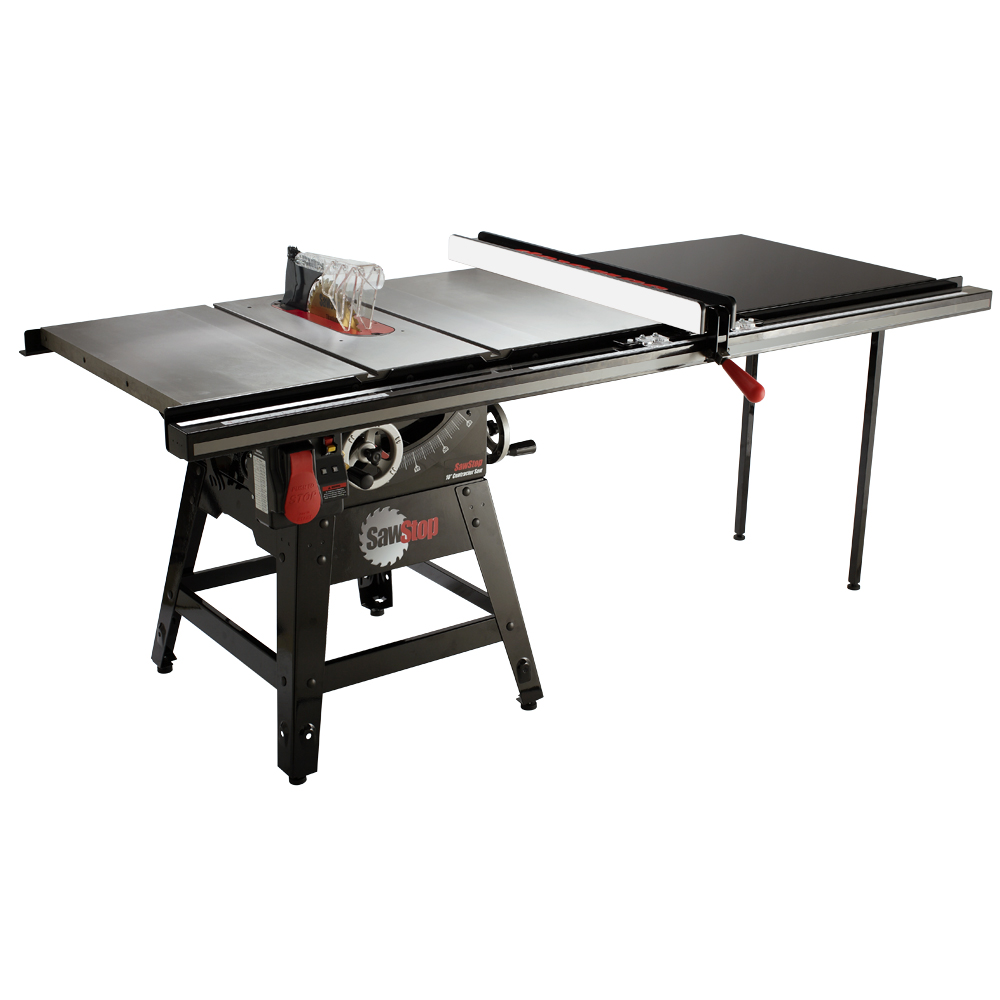 """SawStop Contractor Table Saw with T-Glide Fence 52"""" 1.75HP 1Ph 120V"""