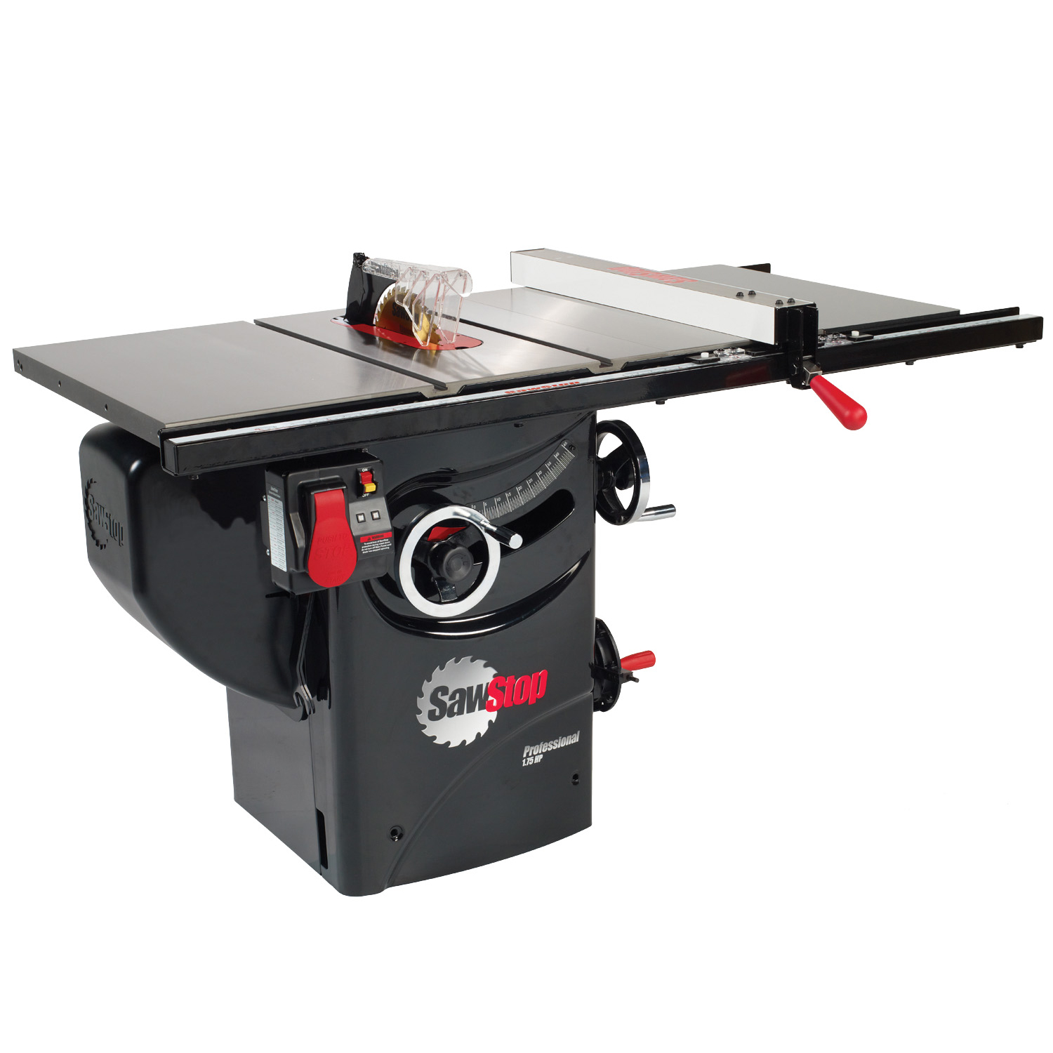 """SawStop PCS 10"""" with 30"""" Premium Fence System 1.75HP 1PH 120"""