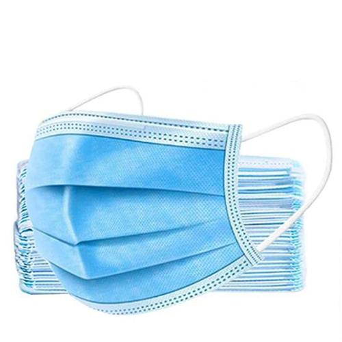 Blue Pleated Disposable Masks, BAG/50