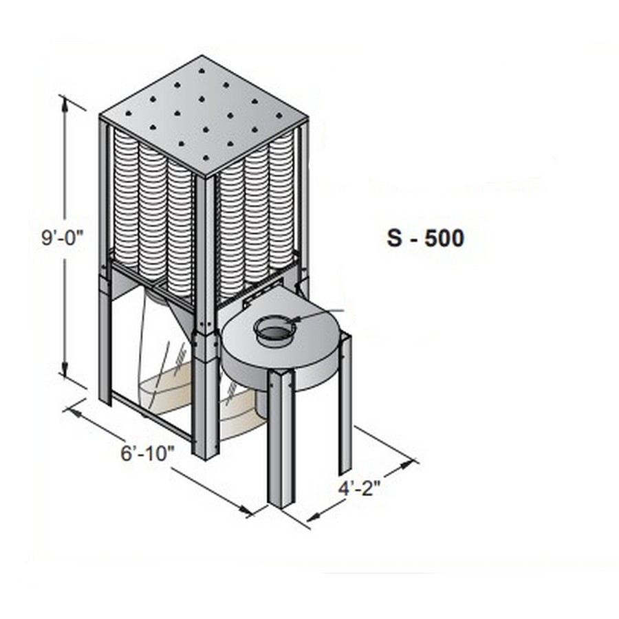 Nederman S-500 S-Series Dust Collector Single Phase