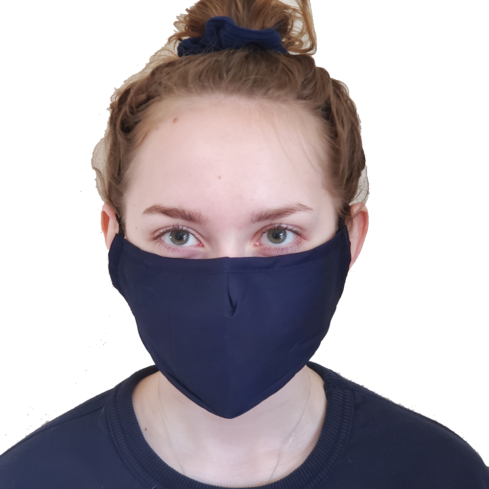 3 Layer Washable Cotton Mask with Pocket
