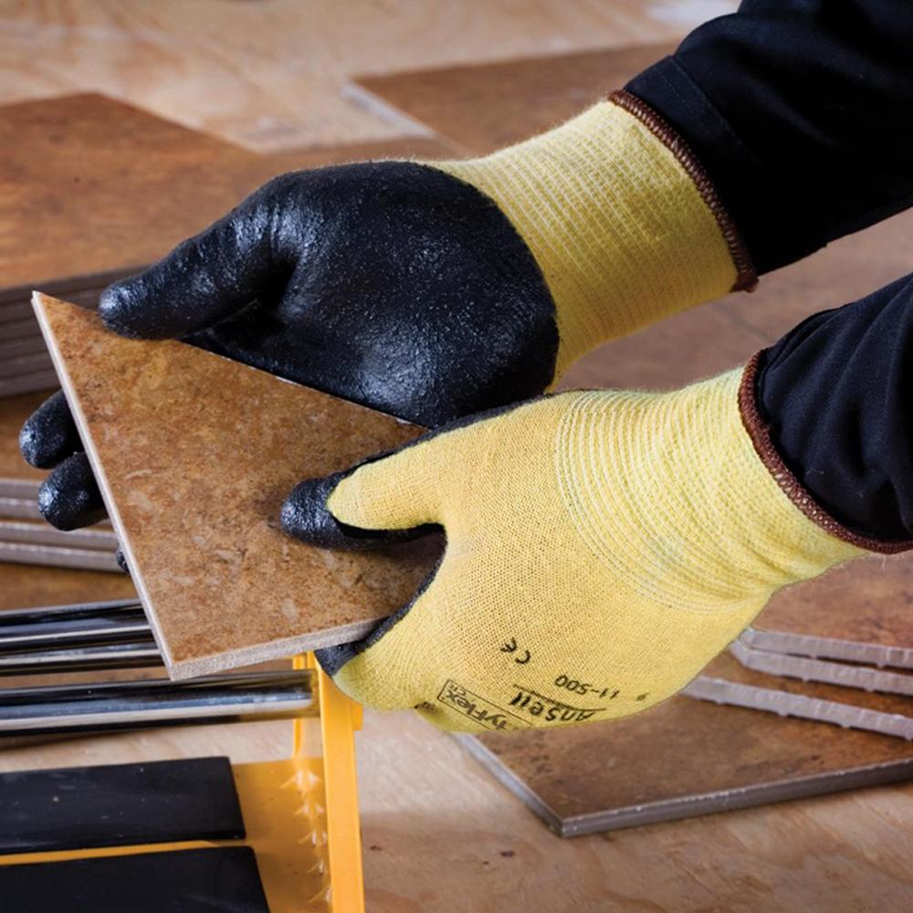 Ansell HyFlex® Foam Nitrile Palm Coated Kevlar® Gloves, Medium