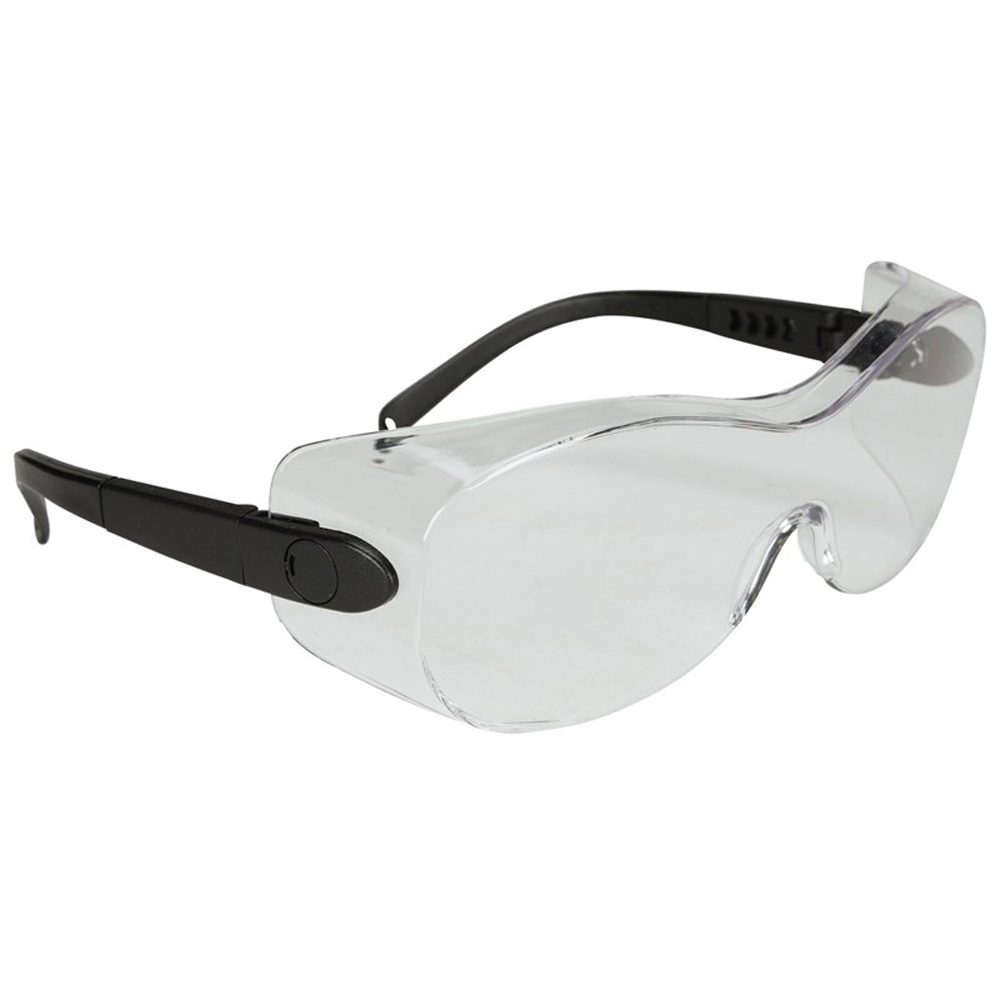 N-Specs® Low Profile OTG Clear Anti-Fog Lens Over-the-Glass Safety Glasses