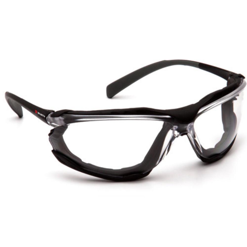 Nova Foam Lined Safety Glasses, Clear, Anti–Fog
