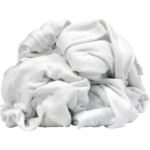 Shop Rags, White Cotton, 50 lbs