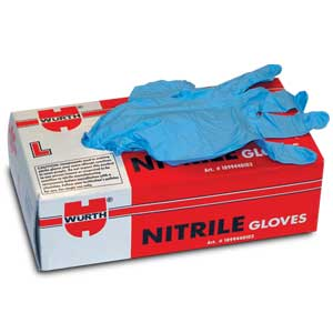 Heavy Duty Blue Nitrile Gloves, Extended Length, Large, BOX/50
